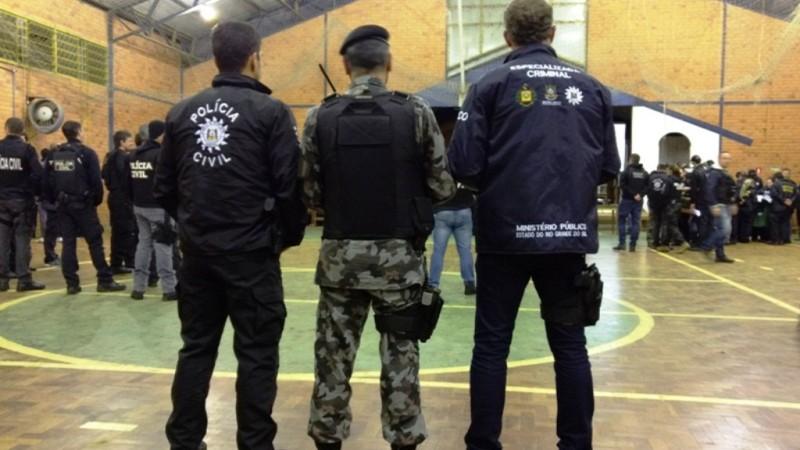 Polícia Civil, Ministério Público e Brigada Militar